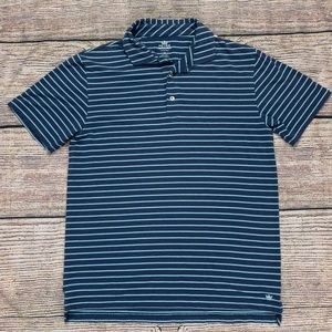 Peter Millar Men's Seaside Polo Shirt Blue Small
